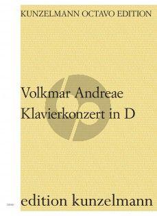 Andreae Klavierkonzert in D-dur Klavier und Orchester (Partitur) (Marc Andreae)
