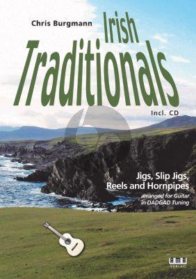 Album Irish Traditionals Jigs, Slip Jigs, Reels and Hornpipes für Gitarre/Tabulatur in DADGAD Stimmung (Buch mit Cd) (Arrangiert von Chris Burgmann)
