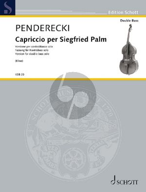 Penderecki Capriccio per Siegfried Palm Kontrabass solo (transcr. Matt Kline)