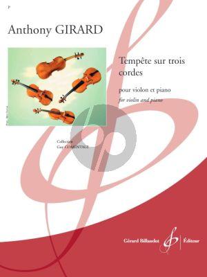 Girard Tempete sur Trois cordes pour Violon et Piano