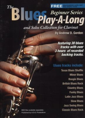 Blues Play Along and Solo 's Collection Beginner Series Clarinet Book - Audio online