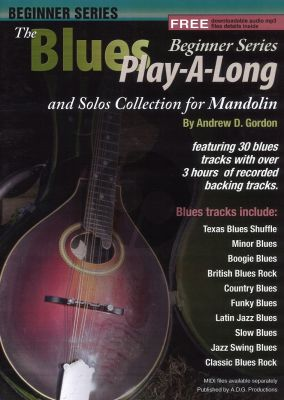 Blues Play Along and Solo 's Collection Beginner Series Mandolin Book - Audio online