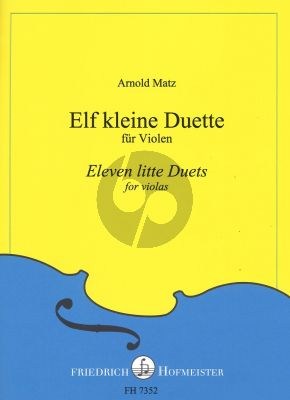 Matz 11 little Duets for 2 Violas (according to four fingering systems in the first position)