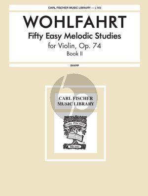 Wohlfahrt 50 Easy Melodious Studies Op.74 Vol.2 Violin