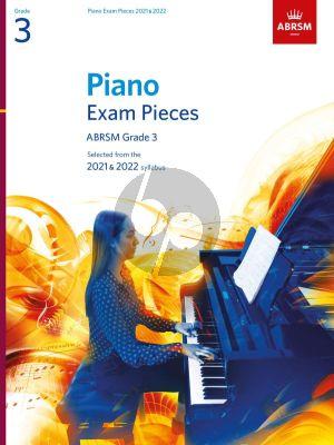 Piano Exam Pieces 2021 & 2022 Grade 3
