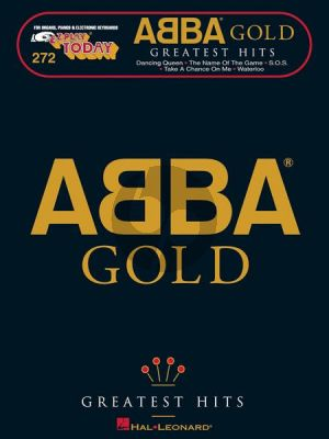 Abba Abba Gold for Piano Solo or Keyboard with Lyrics (Nineteen of ABBA's biggest hits, all in one folio, for Organs, Pianos and Electronic Keyboards)