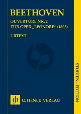 Beethoven Overture no. 2 for the opera Leonore Study Score (ed. Helga Luhning)