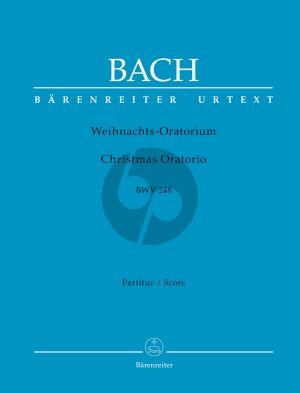 Bach Weihnachts Oratorium BWV 248 Soli-Chor-Orchester Partitur (Walter Blankenburg und Alfred Dürr) (Barenreiter-Urtext)