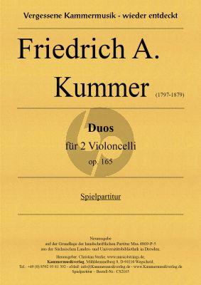 Kummer 3 Duos Op. 165 2 Violoncellos (Spielpartitur) (Christian Starke)
