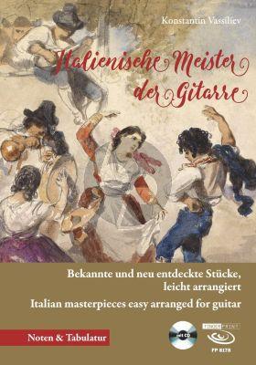 Album Italienische Meister der Gitarre fur Gitarre Solo (Buch mit Cd) (Bekannte und neu entdeckte Stücke) (leicht arrangiert für Gitarre von Konstatin Vassiliev)