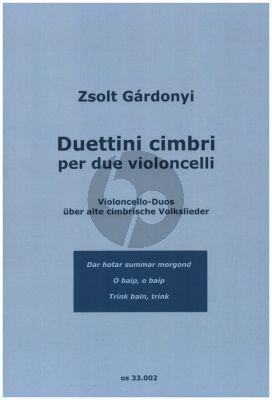 Gardonyi Duettini cimbri per due violoncelli (Part./Stimmen)