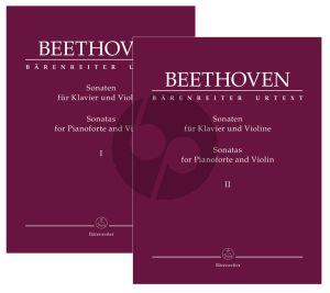 Beethoven Sonatas Vol. 1 and 2 Violin and Piano (edited by Clive Brown)