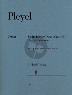 Pleyel 6 Easy Duets Op.48 2 Violins (Editor Norbert Gertsch - Fingering and bowing for Violin Evelyne Grüb-Trauer)