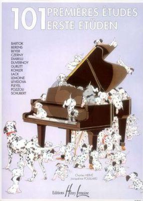 Herve-Pouillard 101 Premieres Etudes pour Piano