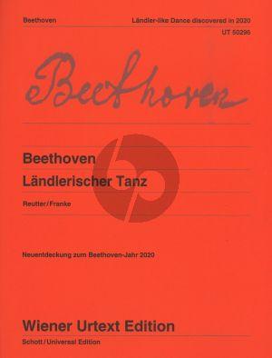 Beethoven Landlerischer Tanz fur Klavier (Edited Jochen Reutter - Fingersatze Doigte de Nils Franke)