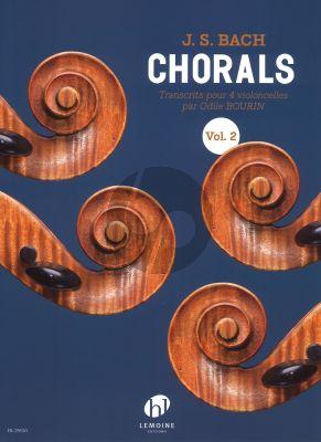 Bach Chorals Vol.2 4 Violoncelles (Partition) (transcr. Odile Bourin)