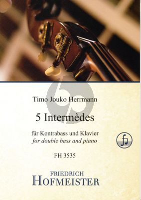 Herrmann 5 Intermèdes Kontrabass und Klavier
