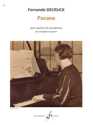 Decruck Pavane for Saxophone Quartet Score and Parts