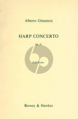 Ginastera Concerto Op.25 for Harp and Orchestra Full Score