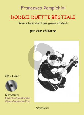 Rampichini Dodici Duetti Bestiali 2 Guitars (Short and easy duets for young students) (Bk-Cd)