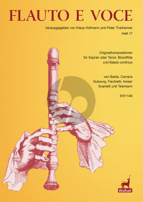 Album Flauto e Voce Heft 17 Soprano Voice-Recorder-Bc (Score and Parts) (edited by Klaus Hofmann and Peter Thalheimer)
