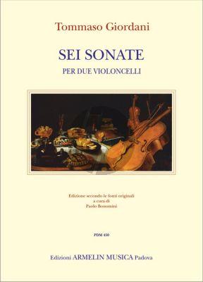 Giordani 6 Sonate per due Violoncelli (Score/Parts) (edited by Paolo Bonomini)