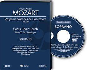 Mozart Vesperae Solennis de Confessore KV 339 Sopran Chorstimme CD (Carus Choir Coach)