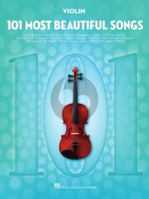 101 Most Beautiful Songs for Violin