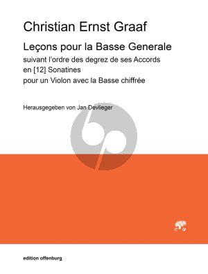 Graaf Lecons pour la Basse Generale Violine und Bc (suivant l'ordre des degrez de ses Accords en 12 Sonatines) (herausgegeben von Jan Devlieger)