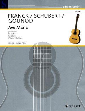 Schubert, Gounod und Franck Ave Maria Gitarre Solo (von Nicolas Alfonso und Pierre-Paul Rudolph für Gitarre übertragen)