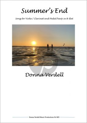 Verdell Summer's End for Viola / Clarinet and Harp in B-Flat