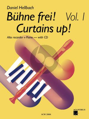 Hellbach Curtains UP! Vol.1 for Treble Recorder and Piano Bk-CD