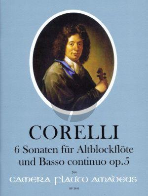 Corelli 6 Sonaten Op. 5 Altblockflöte und Bc (Winfried Michel)