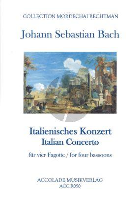Bach Italienisches Konzert BWV 971 for 4 Fagotte (Part./Stimmen)