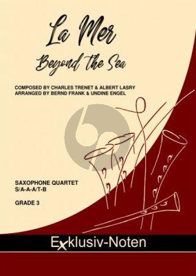 Trenet La Mer (Beyond the Sea) 4 Saxophonen (S/SA-A-A/T-B) (Part./Stimmen) (transcr. Bernd Frank & Undine Engel)