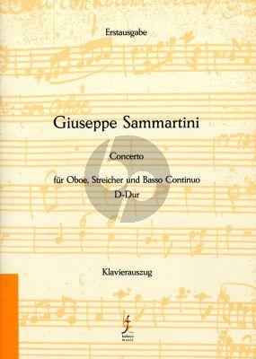 Sammartini Konzert D-dur Oboe, Streicher und Bc Ausgabe Oboe und Klavier (Herausgegeben von Bernhard Forster)