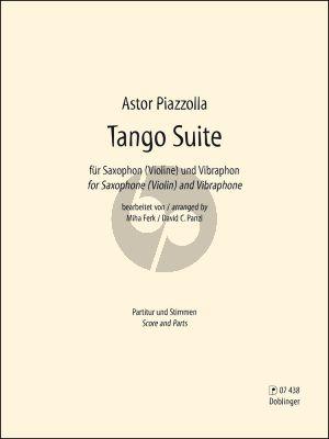 Piazzolla Tango Suite Sopransaxophon (oder Violine) mit Vibraphon (Part./Stimmen) (arr. Miha Ferk und David Panzl)
