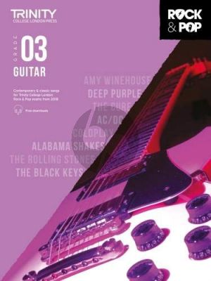 Album Trinity Rock & Pop 2018 Guitar Grade 3 Book with Audio Online