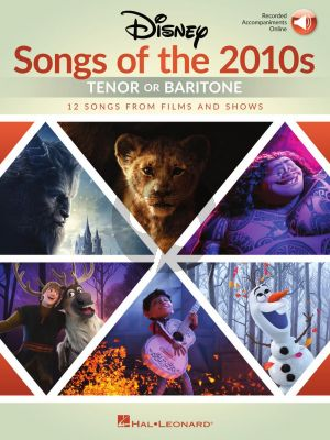 Disney Songs of the 2010s: Tenor or Baritone (Book with Audio online)