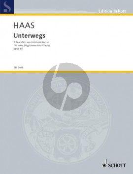 Haas Unterwegs Op.65 Hohe Stimme und Klavier