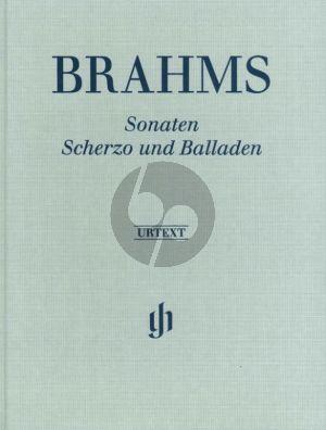 Brahms Sonaten-Scherzo & Ballades Piano solo (Hardcover) (edited by Katrin Eich)