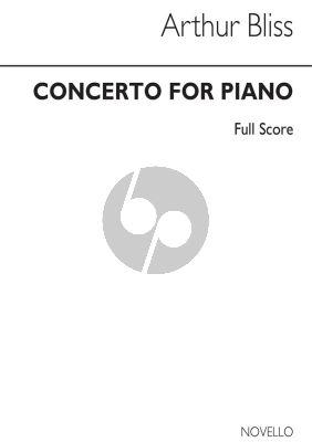 Bliss Concerto for Piano Miniature Score