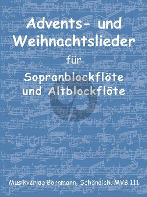 Advents- und Weihnachtslieder für Sopran- und Altblockflöte