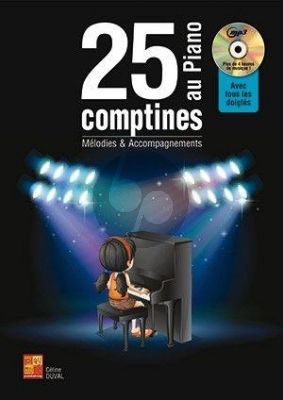 Duval 25 Comptines au piano (Bk-Cd)