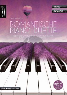 Frenzel Romantische Piano-Duette (Vierhändige Spielstücke für ein oder zwei Klaviere) (Book with Audio online)