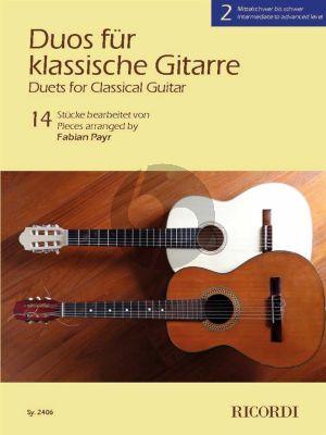 Duos für klassische Gitarre 2 (arr. Fabian Payr)