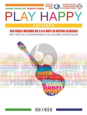 Play Happy for Guitar (Book with CD and MP3) (Andrea Cappellari and Roberto Fabbri)