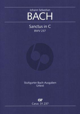 Bach Sanctus in C BWV 237 SATB und Orchester (Partitur) (Ulrich Leisinger)