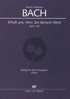 Bach Kantate BWV 126 Erhalt uns, Herr, bei deinem Wort (Klavierauszug) (deutsch/englisch)