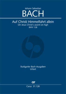 Bach Kantate BWV 128 Auf Christi Himmelfahrt allein (Klavierauszug) (deutsch/englisch)